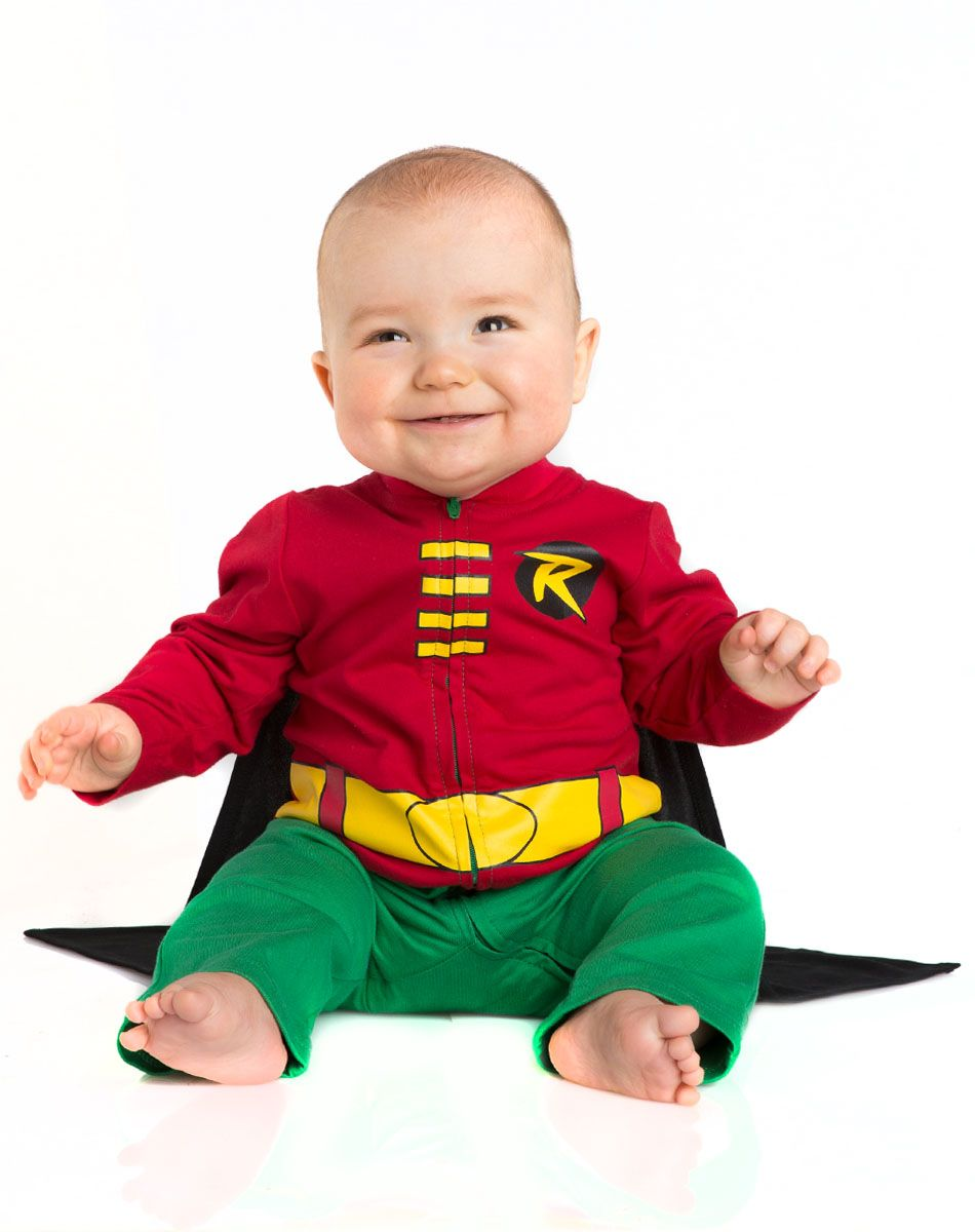 Batman Robin Caped Baby Coverall exclusively at Spirit Halloween ...