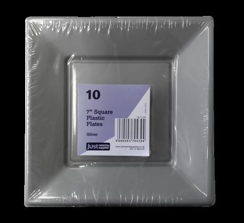 10 x 7 | Silver Square Plastic Dinnerware | Pinterest | Plastic ...