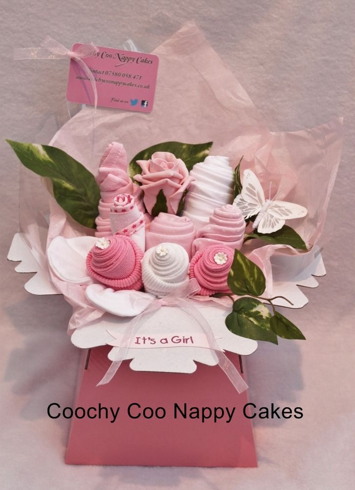 Baby Clothes Bouquet For Girls Baby Shower Ideas Pinterest