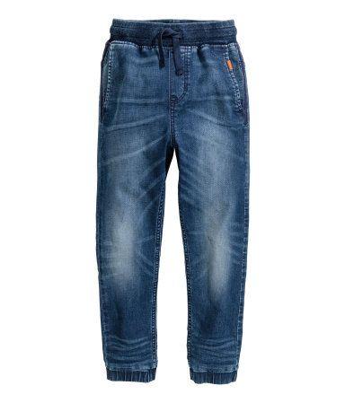 Online kaufen hohe Qualitätsgarantie Fang Super Soft Denim Joggers | Denim blue | Kids | H&M US | Boys ...