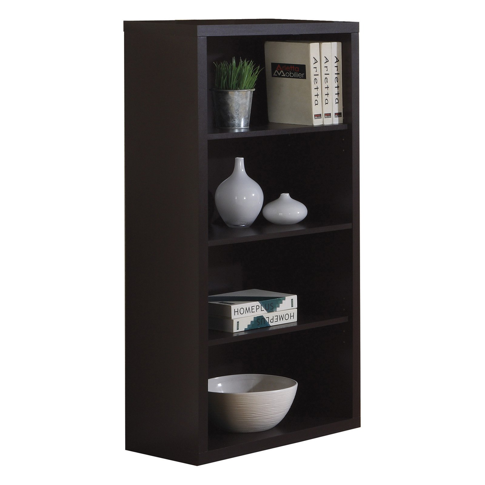 Rooms To Go Office Furniture Monarch Cappuccino Bookcase With Adjustable Shelves In 2019