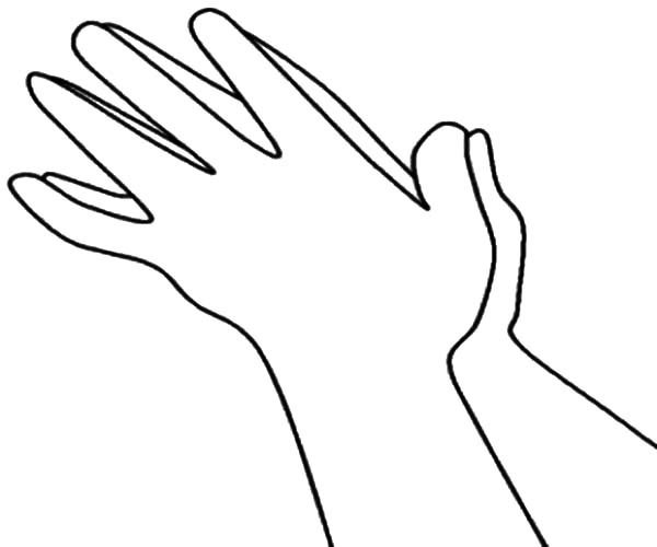 Hands Clapping Loud Coloring Pages Best Place To Color Coloring Pages Hand Coloring Color