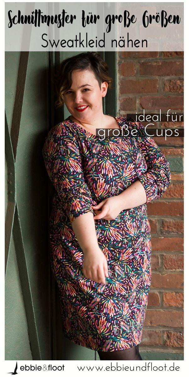 Kleid für große Größen nähen   Leoparden Muster - Plus Size Mode ...