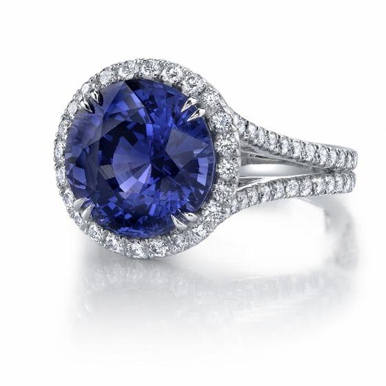 Omi Prive: Purple Sapphire and Diamond Ring Style: RC1000-SARD