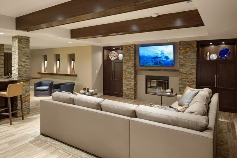 27 Luxury Finished Basement Designs Page 4 Of 5 Home Epiphany Basement Design Family Room Design Modern Family Rooms