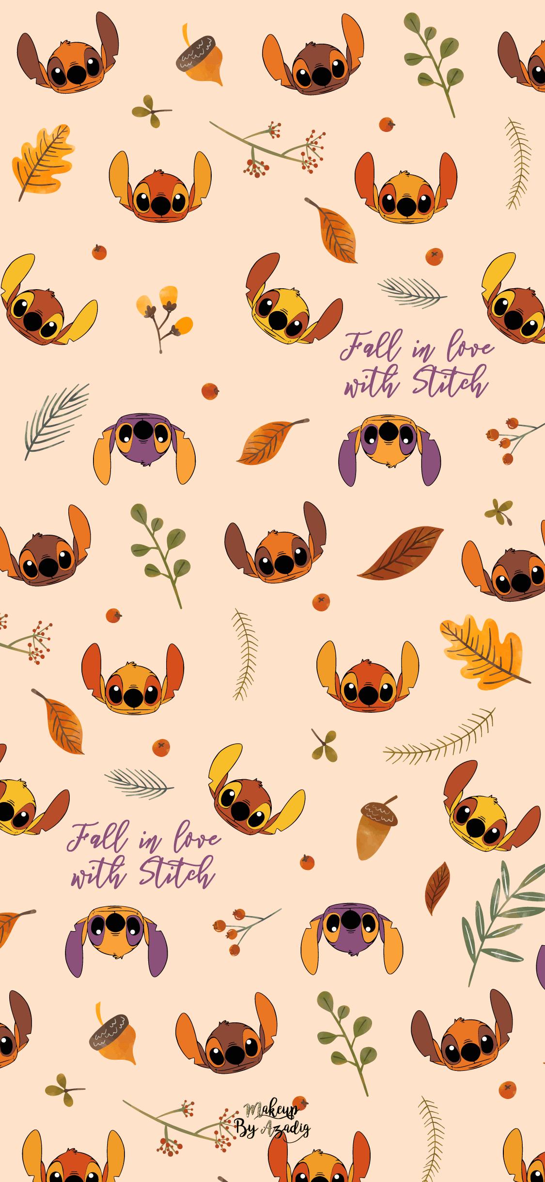 Fond Decran Wallpaper Stitch Autumn Automne Fallinlove Disney Iphone X Makeupbyazadig Tenda Wallpaper Iphone Disney Iphone Wallpaper Fall Wallpaper Iphone Cute