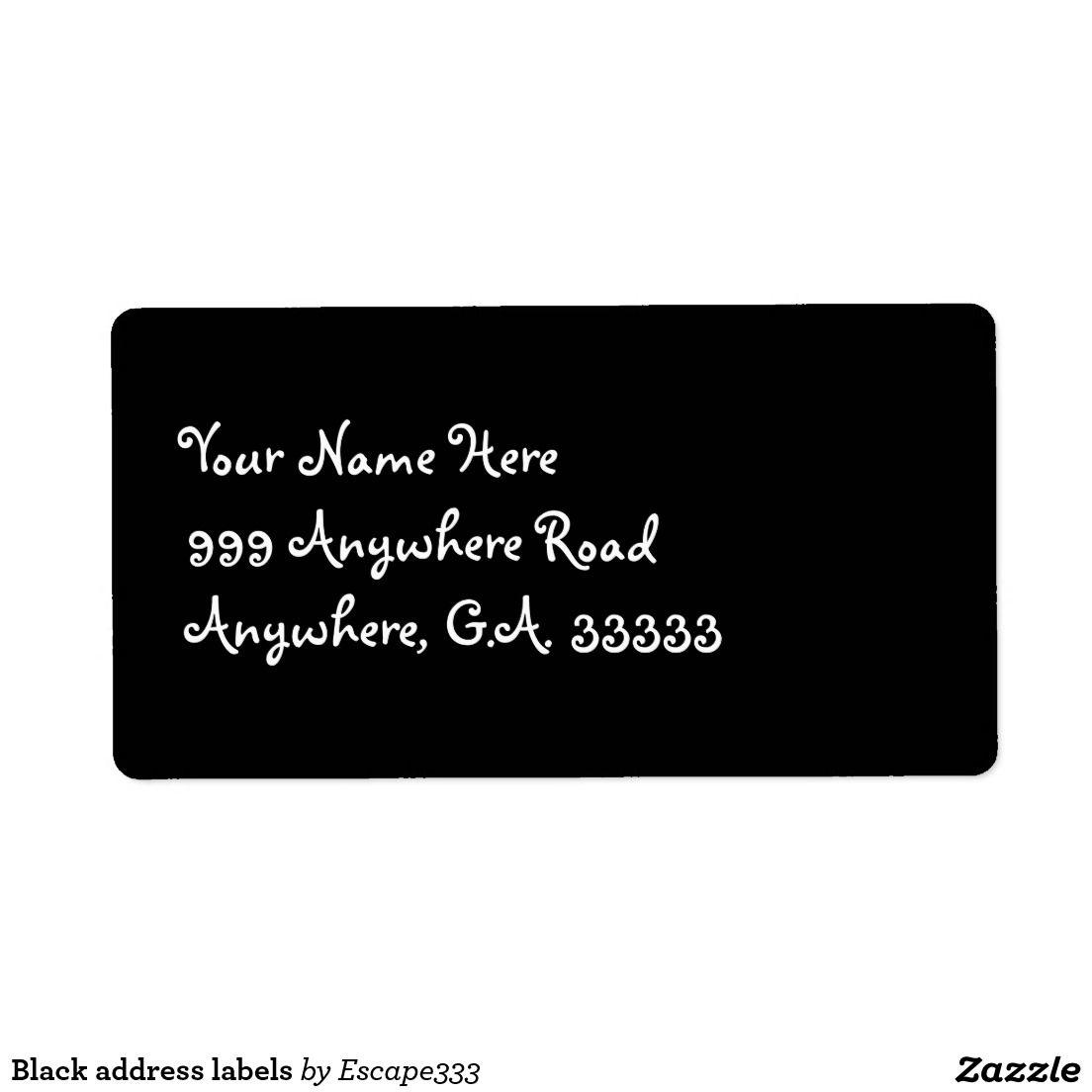 black address labels address labels and black
