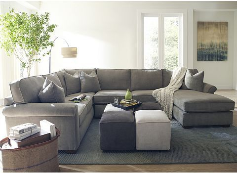 This is our couch. Haverty's Piedmont Floored Sectional in the Java color.  A grayish - This Is Our Couch. Haverty's Piedmont Floored Sectional In The