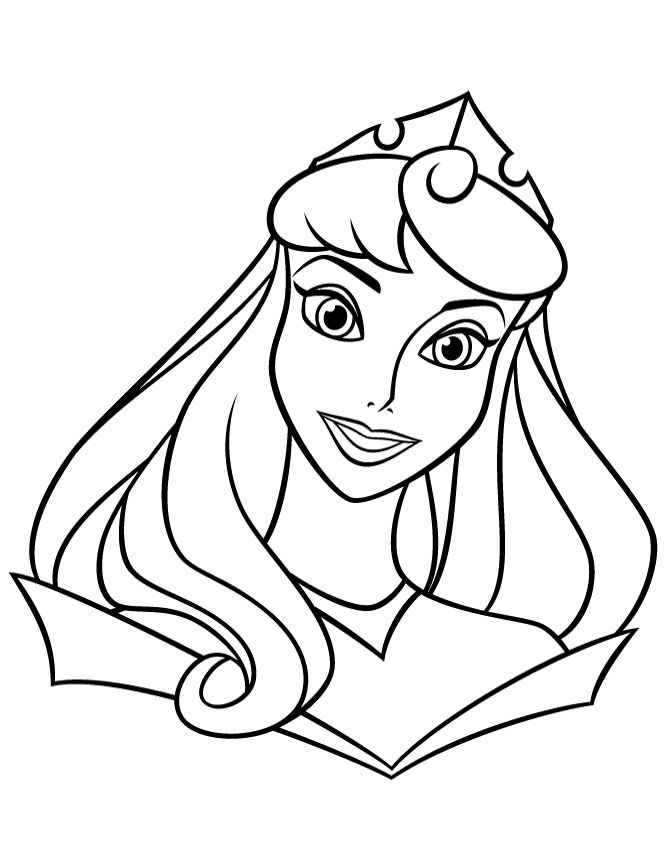 Face Of Princess Aurora Coloring Pages Princess Coloring Pages Disney Princess Coloring Pages Princess Coloring