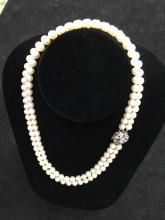 29710565f49a 18 pulgadas Doble Collar de perlas cultivadas