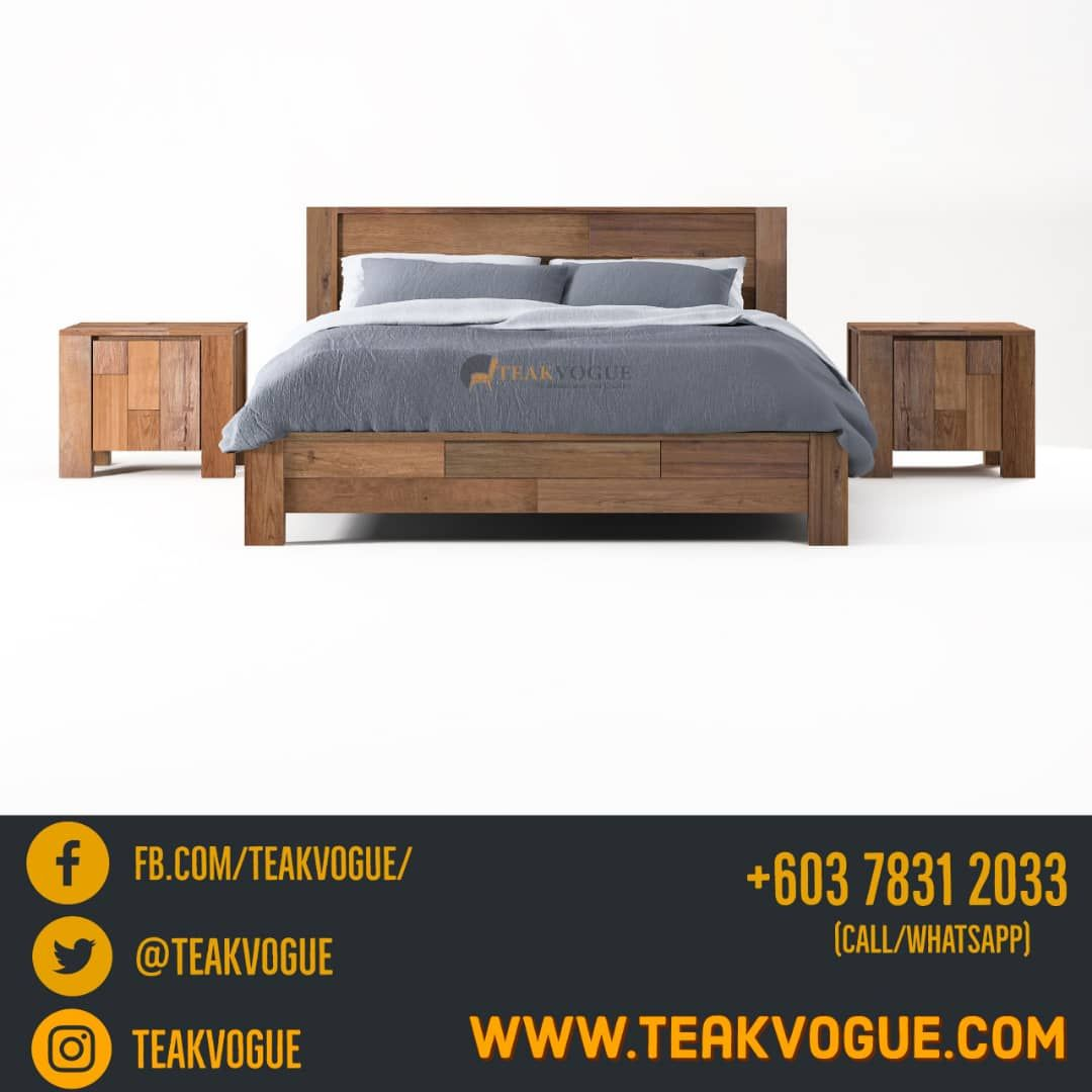Shandur Queen Size Bed Teak Wood Bed Frames Malaysia Bed Frame