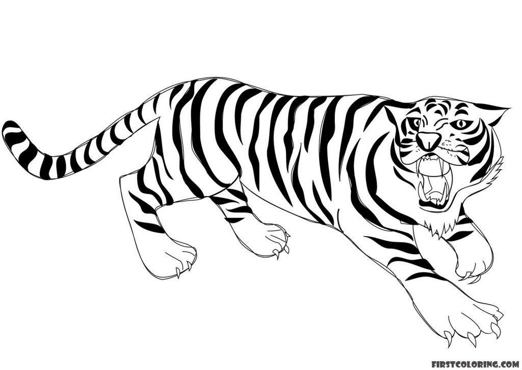 Tiger Coloring Pages Coloring Pages Cute Tiger Cubs Animal Coloring Pages