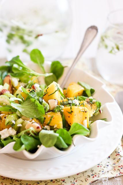 Mango Celery and Goat Cheese Salad | by Sonia! The Healthy Foodie