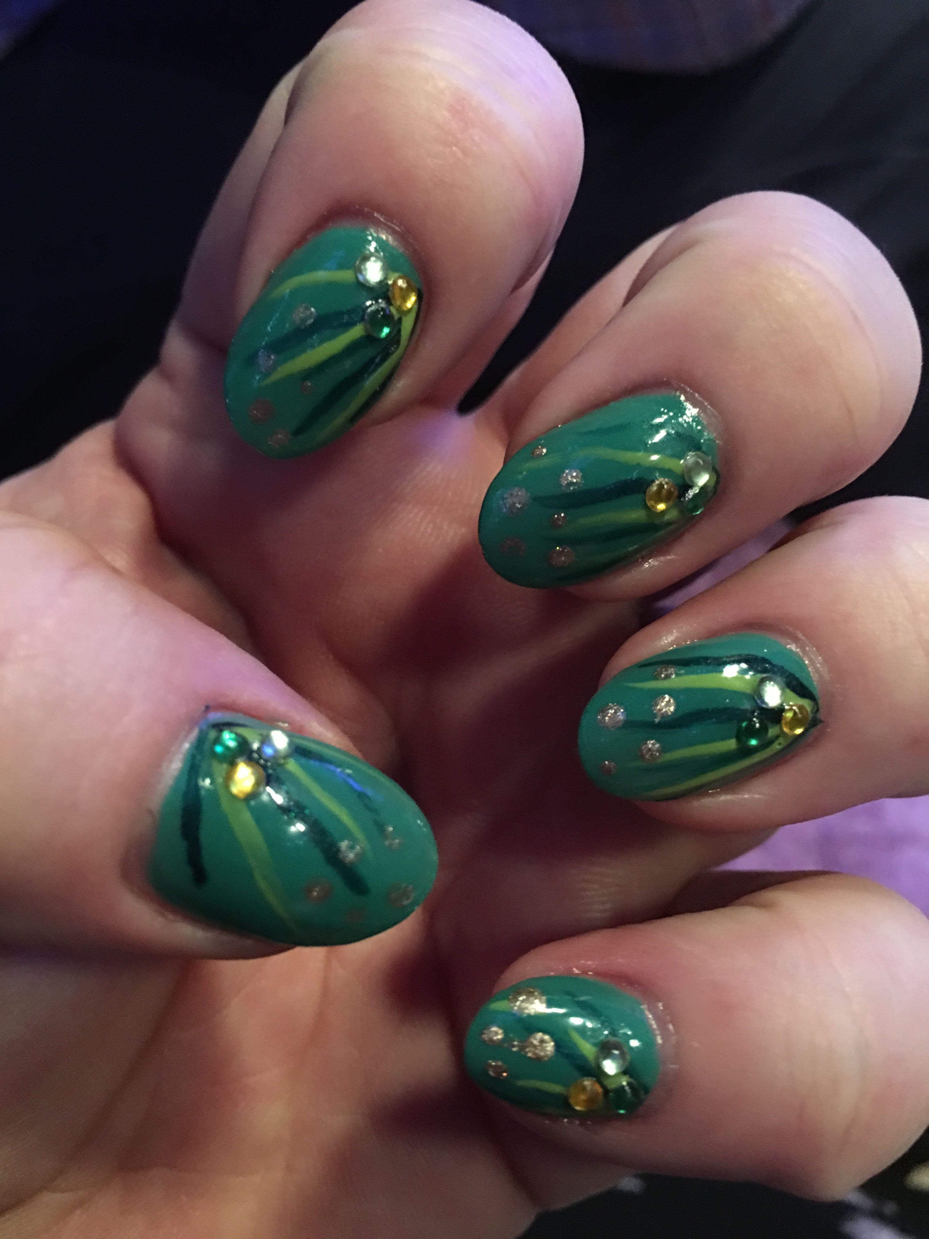 St Patrick\'s Day nails   St Patrick\'s Day nail design   Irish nail ...