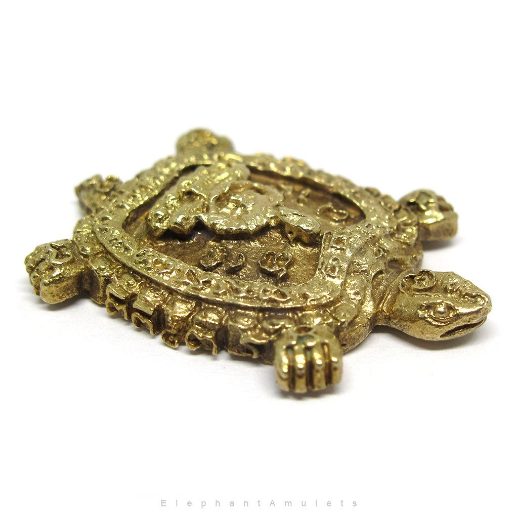 Pin by khun kb on buddhist creations charms pendants art etc brass buddhist charm lucky turtle pocket charm thai amulet turtle amulet with the unalome symbol buddhist monk meditating protection amulet buycottarizona