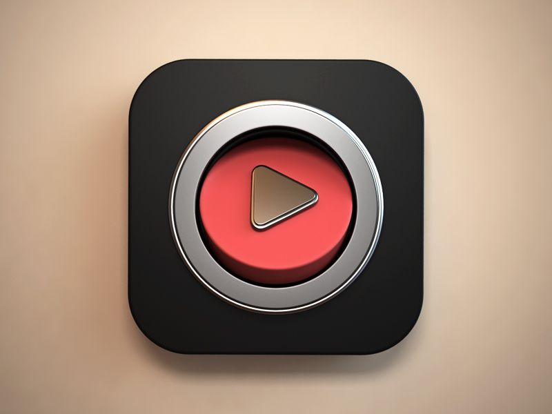 Video app icon App icon, Ios icon, App icon design