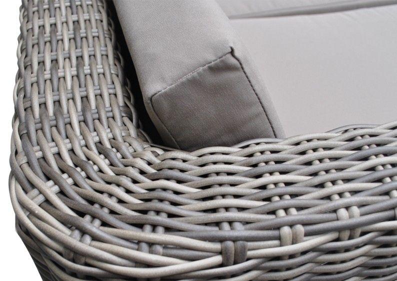 Rattan Loungemöbel Gartensofa Hannover 3-5 Sitzer inkl - loungemobel garten grau