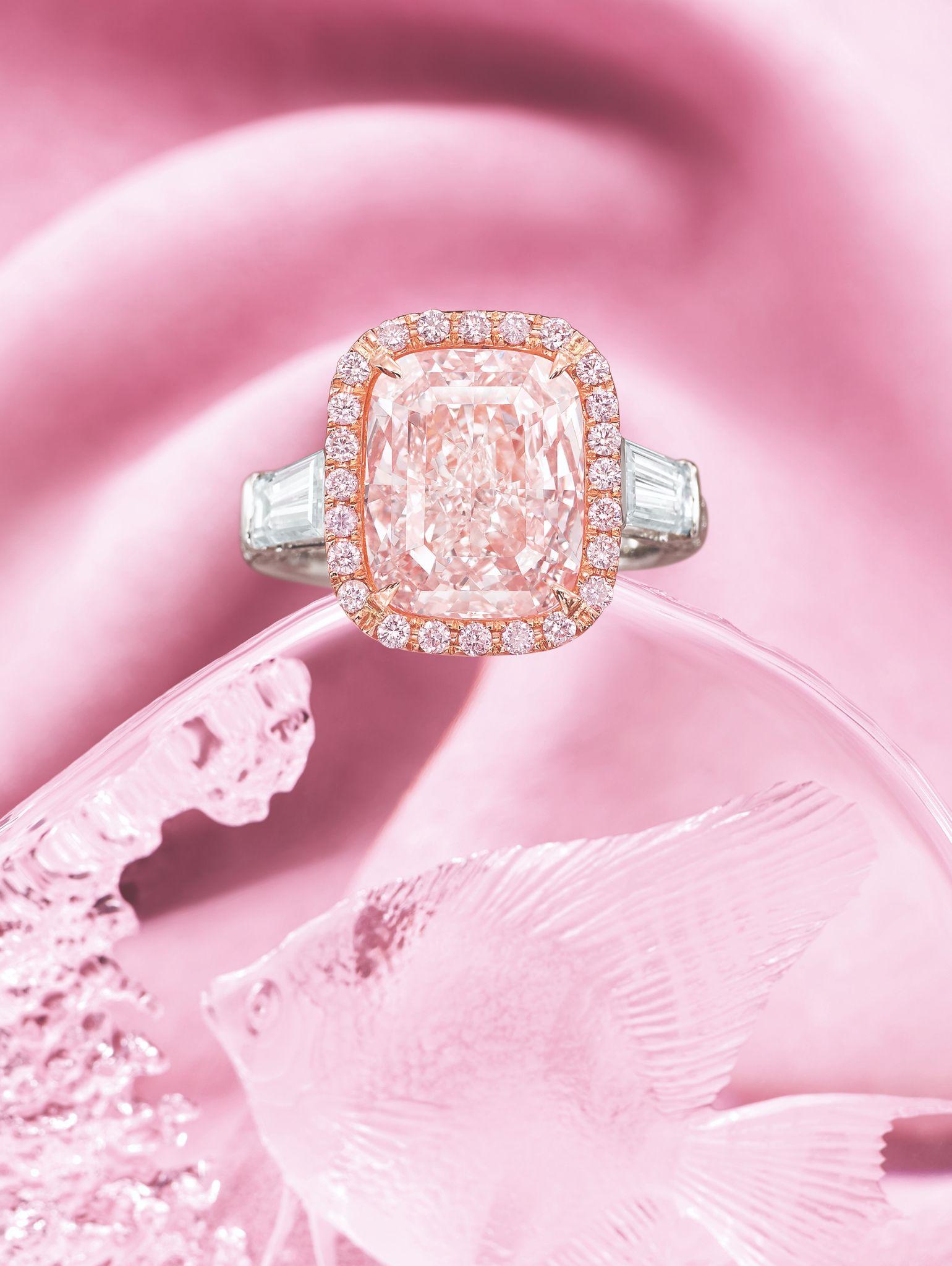 """The Princess Pink"""", 5.03-Carat Natural Fancy Light Orangy Pink ..."""