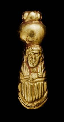 Gold scarab bead Nubian, Meroitic Period, 270 B.C.–A.D. 320 Findspot Meroe,