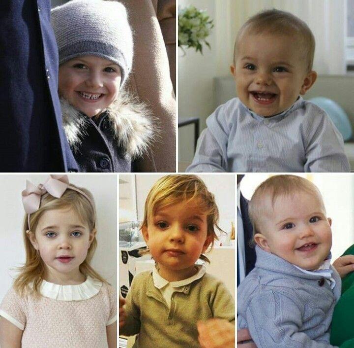Princess Estelle, prince Oscar, princess Leonore, prince Nicolas and prince Alexander.