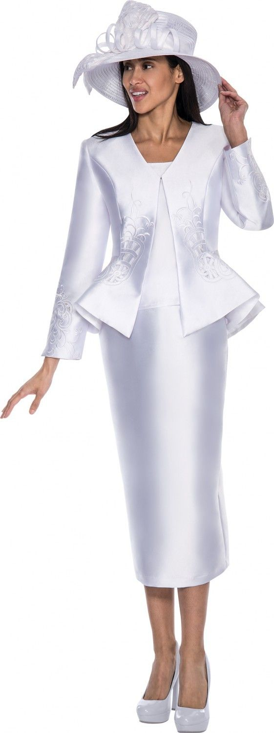 Gmi g5793 white womens church suits church suits ladies for Womens white dress suit wedding