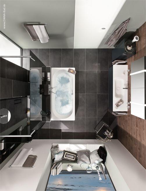 DIANA-Bad Design  von oben  mit T-Wand | Badezimmer Planung