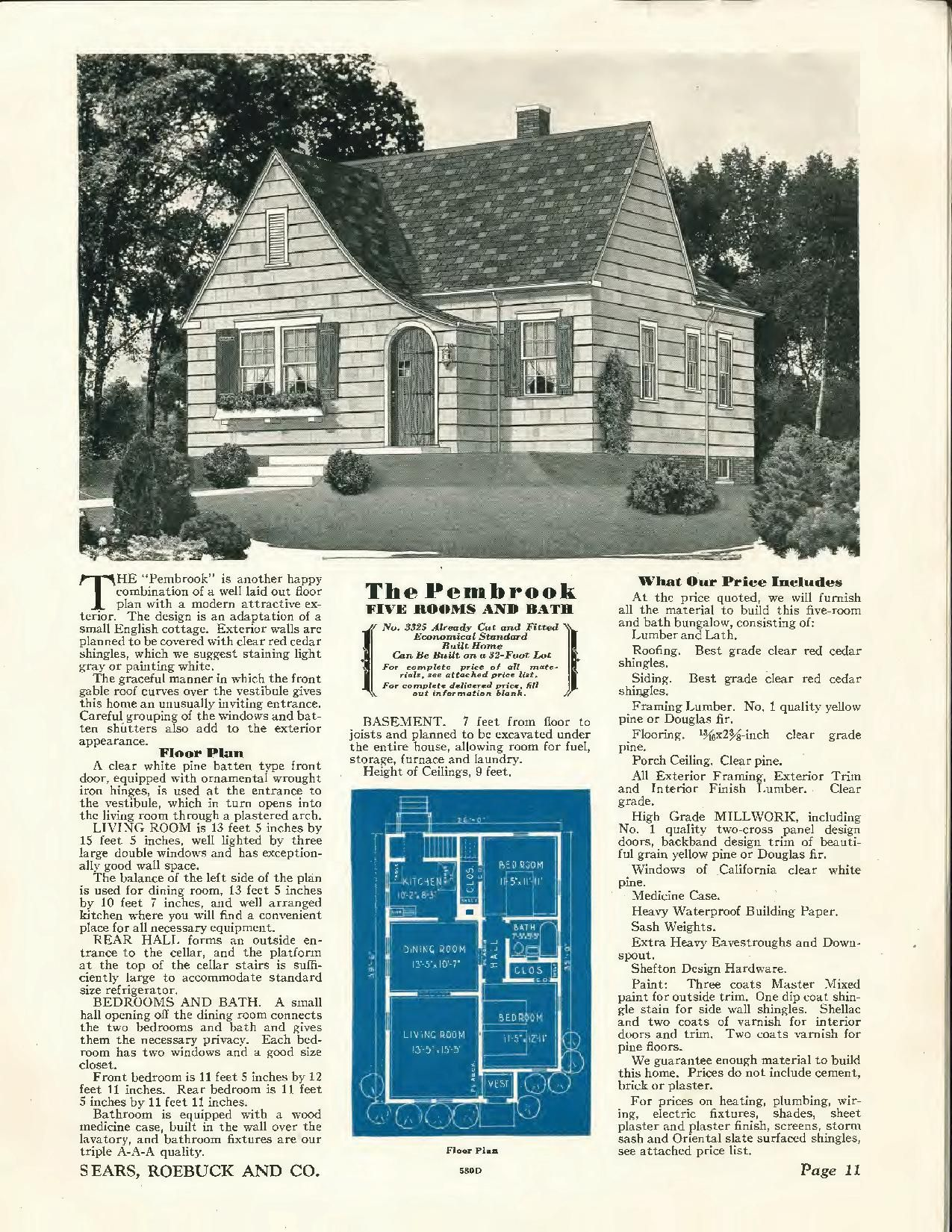 Sears Pembrook 1930 3325 1933 3325 Similar To The Bellewood Red Cedar Roofing Shingling