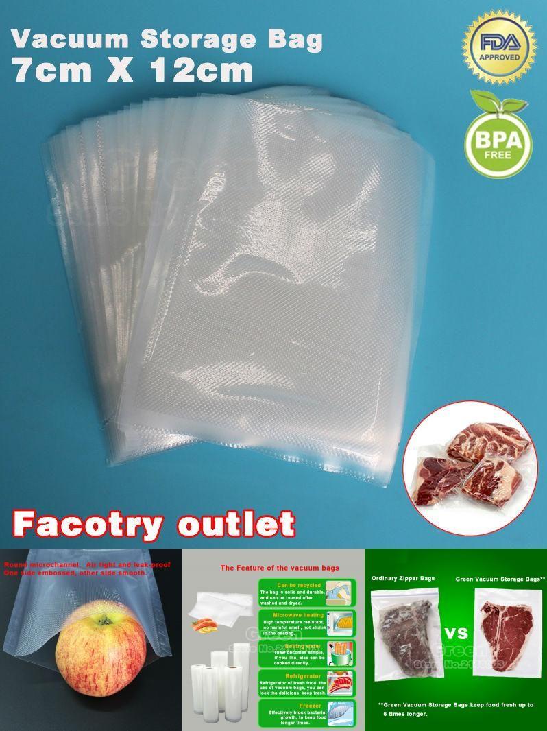 Visit To Buy 7cm X 12cm 50pcs Kitchenboss Pe Vacuum Food Saving Storage Bags Sealing Sealer Packaging Film Keeps Fre Save Food Food Saver Vacuum Food Sealer