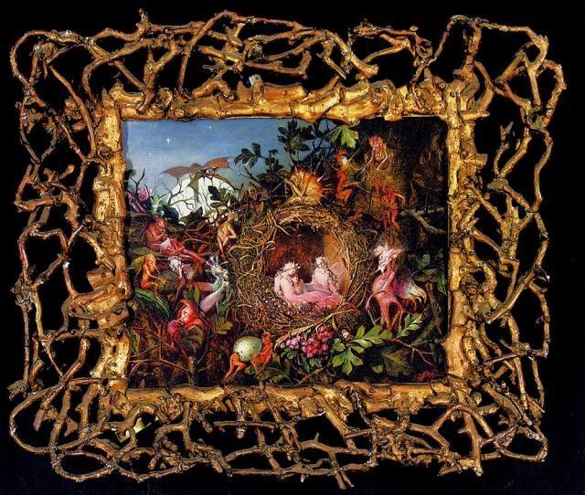 Fairies in a Bird´s Nest by John Anster Fitzgerald