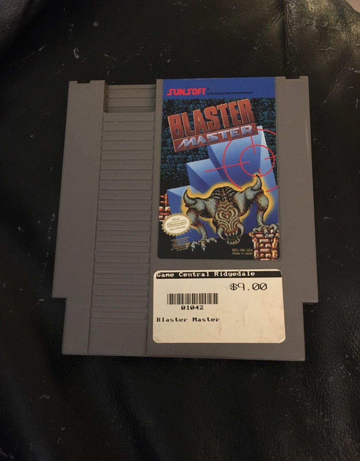 Blaster Master For Nintendo Nes Cartridge Only Nintendo Games