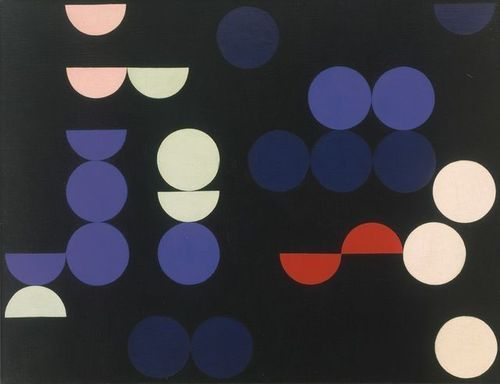 Composition with Circles and Semi-Circles (1935) by Sophie Taeuber-Arp