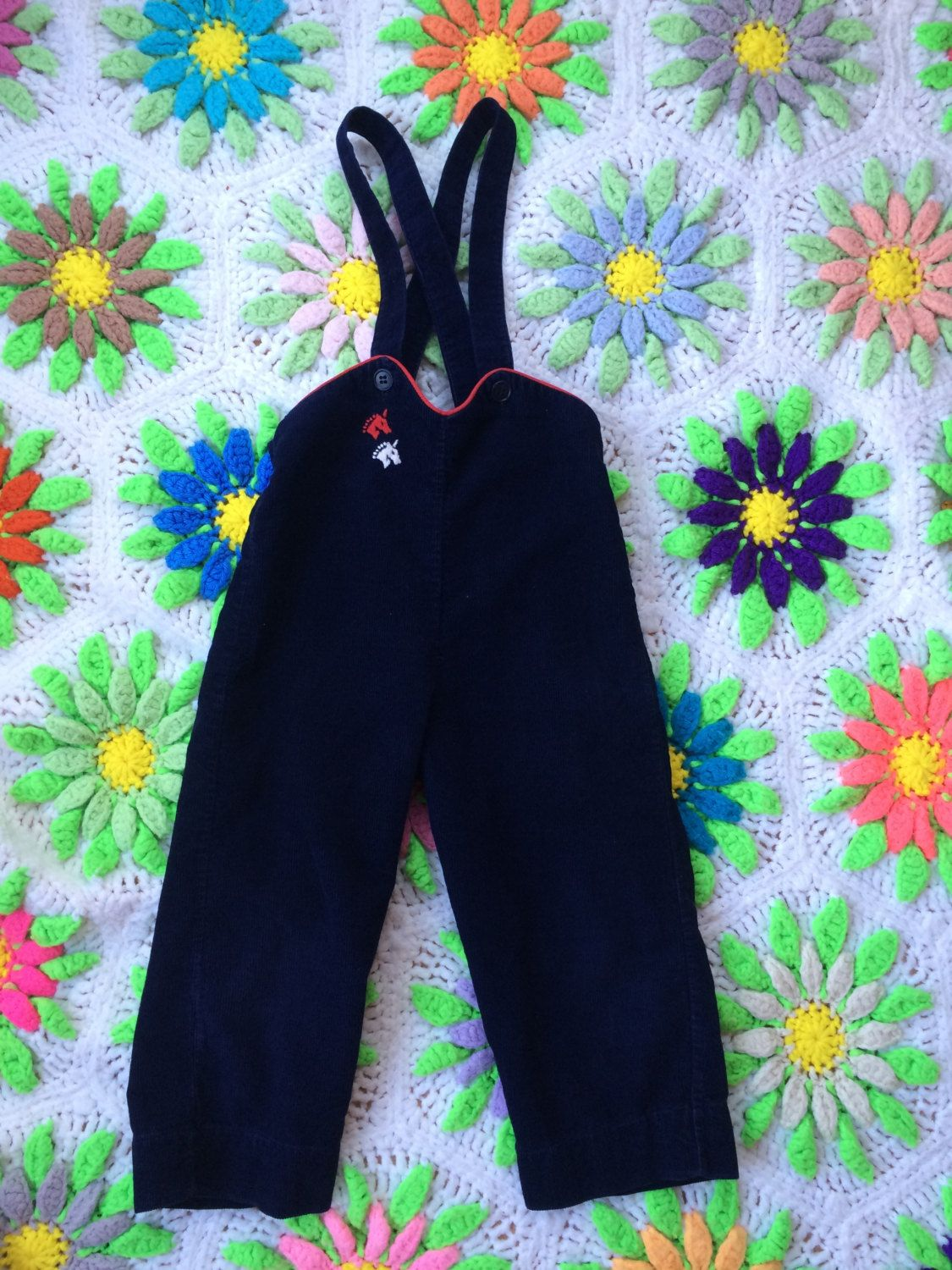 60s Unicorn Overalls 18/24 Months by lishyloo on Etsy