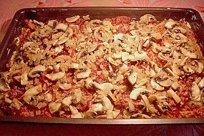 Kloßteig - Pizza mit Speckauflage 1