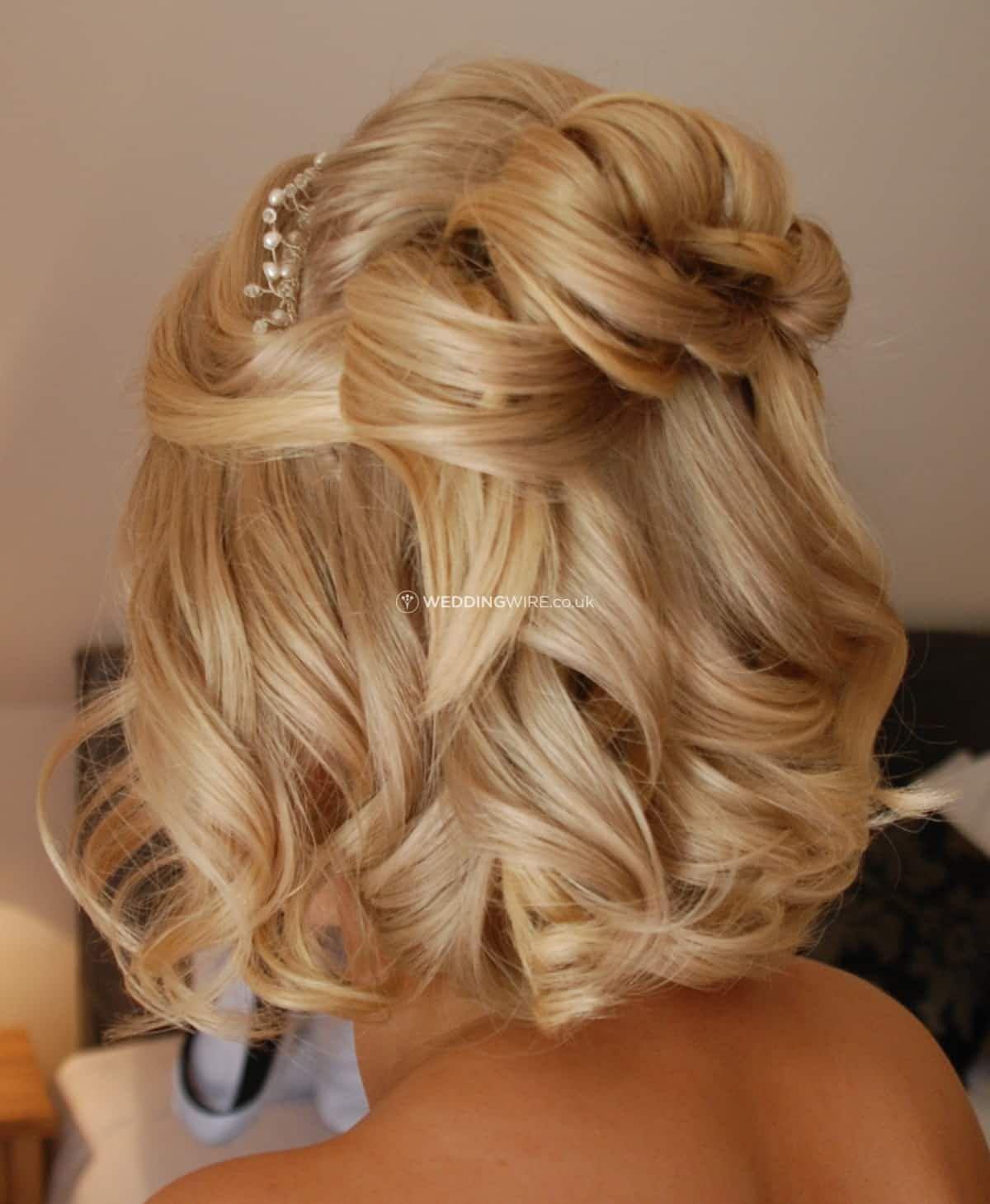 half up short hair | prom | short wedding hair, short hair
