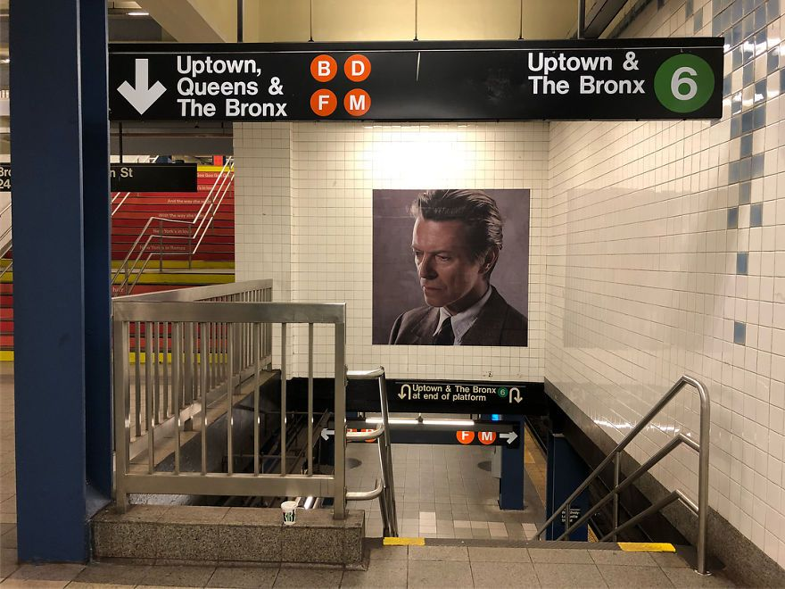 Amazing David Bowie Tribute Is Making New Yorkers Use Subway More | Bored  Panda | David bowie tribute, David bowie, Bowie