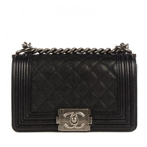 b261d8114396 CHANEL Caviar Quilted Small Boy Flap Black ❤ liked on Polyvore featuring  bags, handbags, leather flap handbag, shoulder bag purse, shoulder handbags,  ...