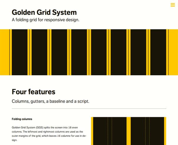 Golden Grid System A Folding Grid For Responsive Design Grid System Web Design Web Grid