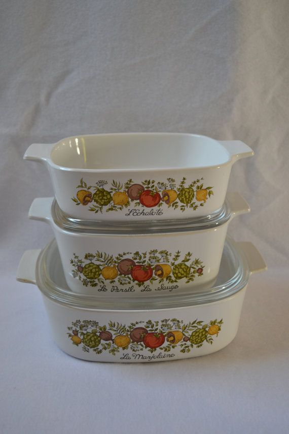 CorningWare / Pyrex Spice of Life Glass Casserole Baking Dishes