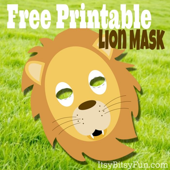 Printable Lion Masks Template Free
