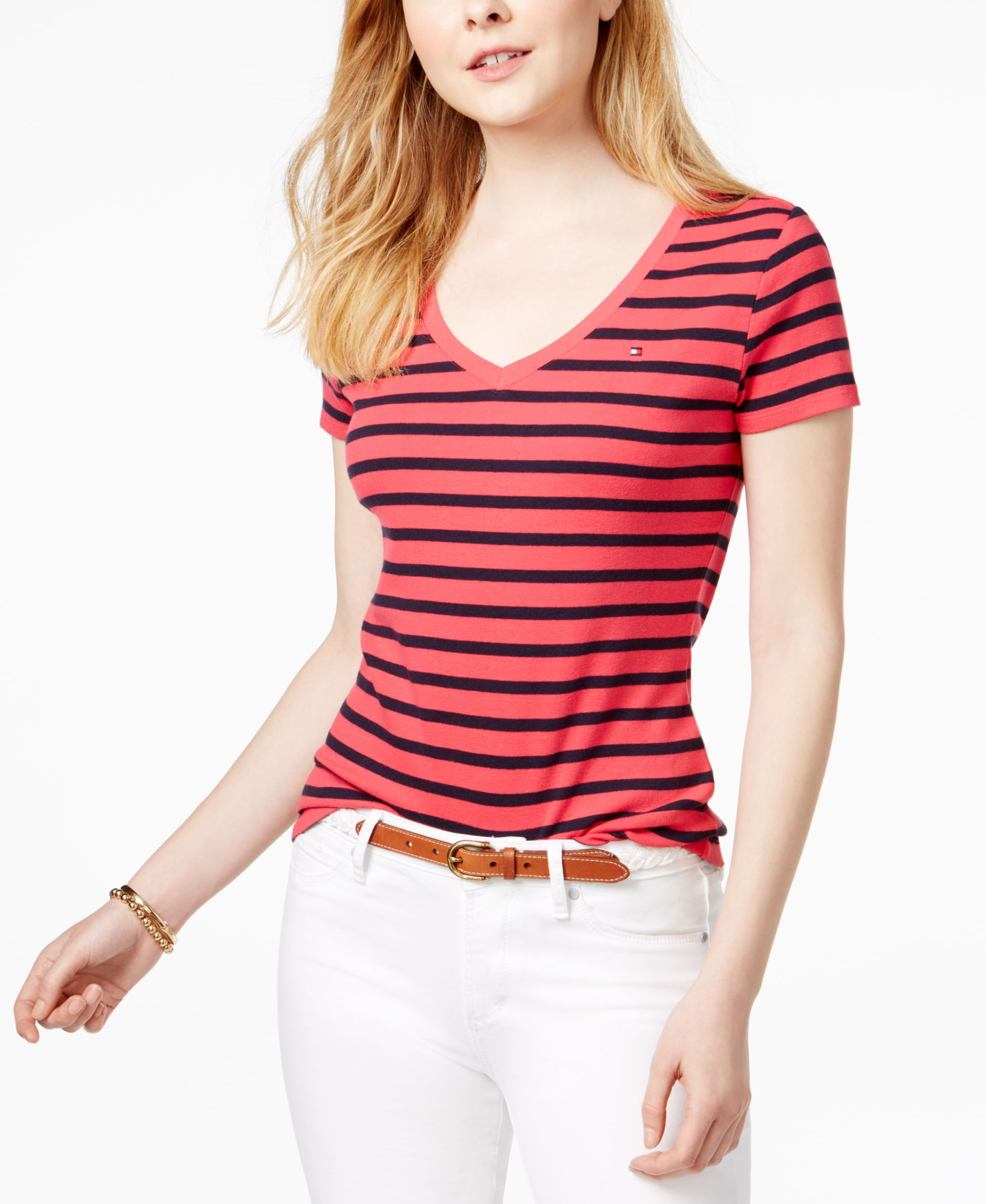 4d2f76ca Tommy Hilfiger Cotton Striped Flag T-Shirt, Only at Macy's ...