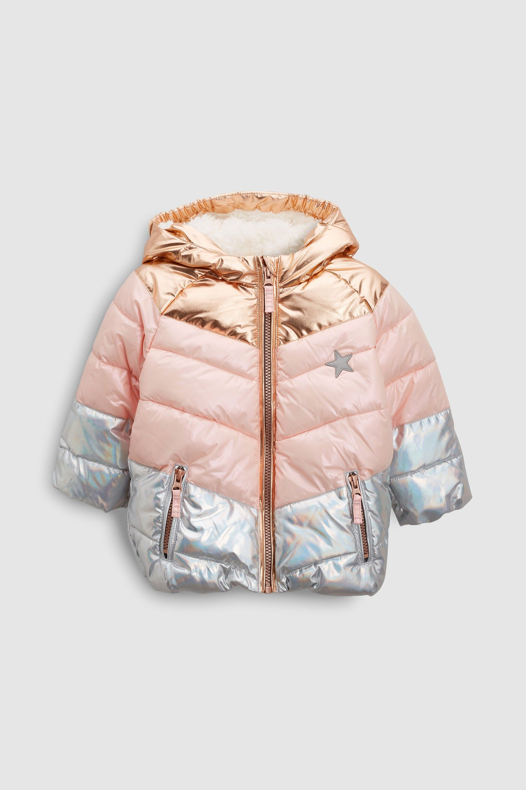 c541e4c5a8e7 Girls Next Pink Colourblock Padded Jacket (3mths-6yrs) - Pink ...