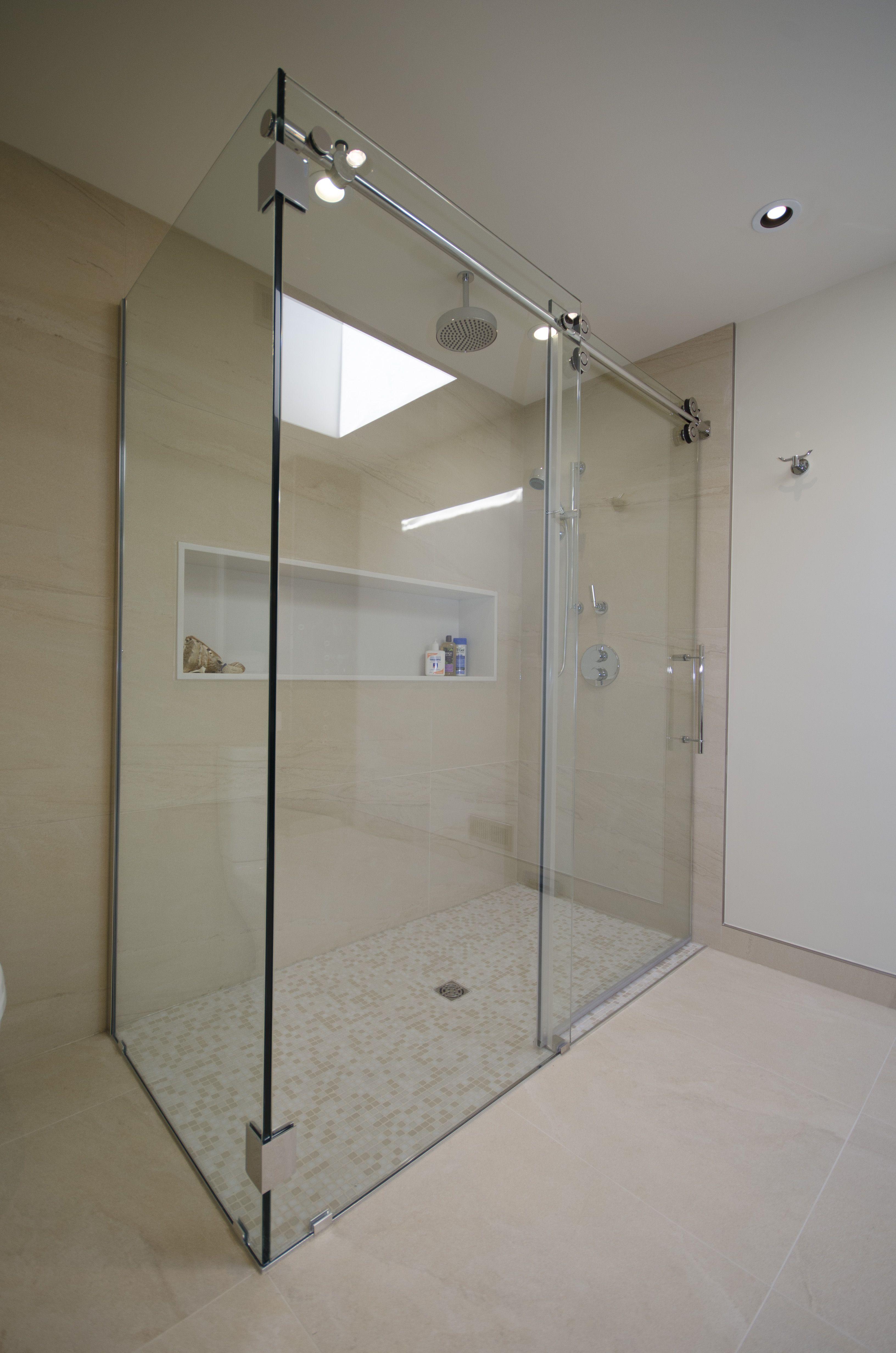 Stepless Shower With Sliding Doors Secret Mstr Bedroom
