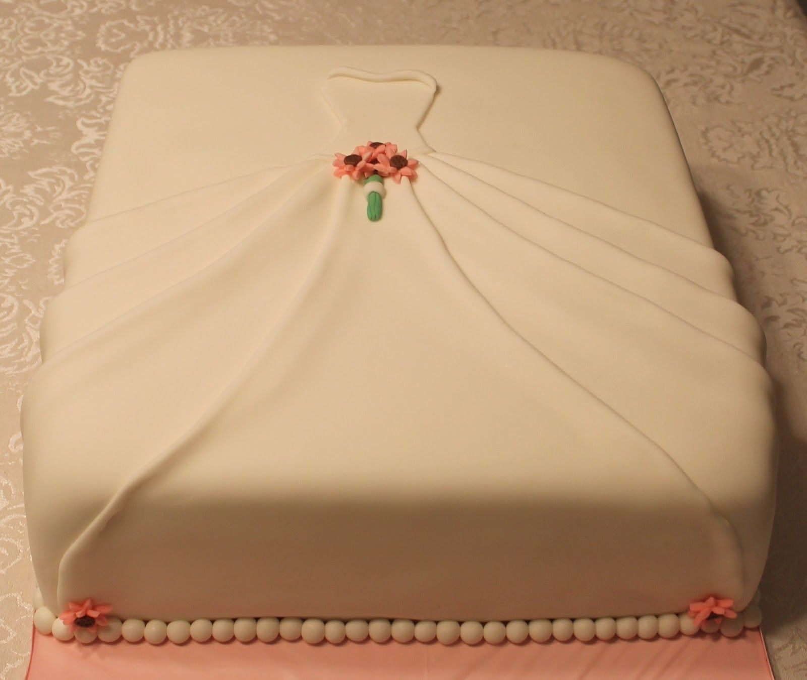 Bridal Shower Sheet Cakes | wedding dress bridal shower cake ...