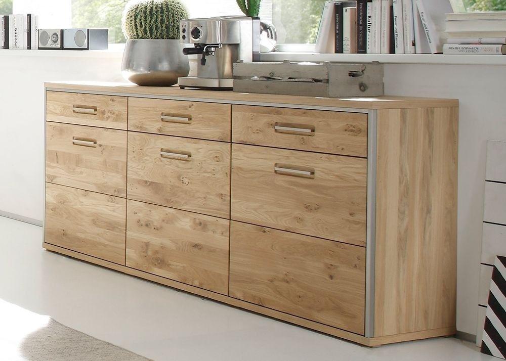 Sideboard Massiv Espero Kommode Anrichte Holz Asteiche Bianco 9166 ...