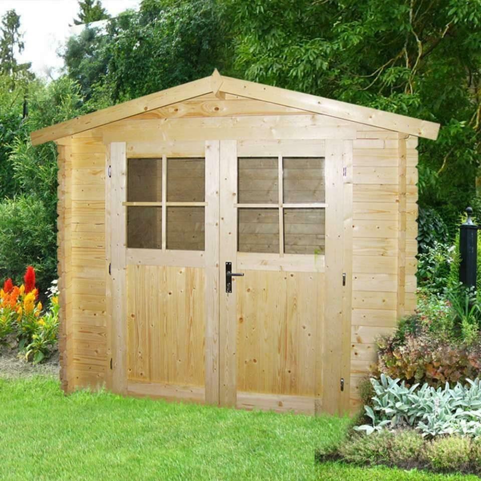 eBay Sponsored Gartenhaus aus Holz 3x2m Blockhaus 28mm