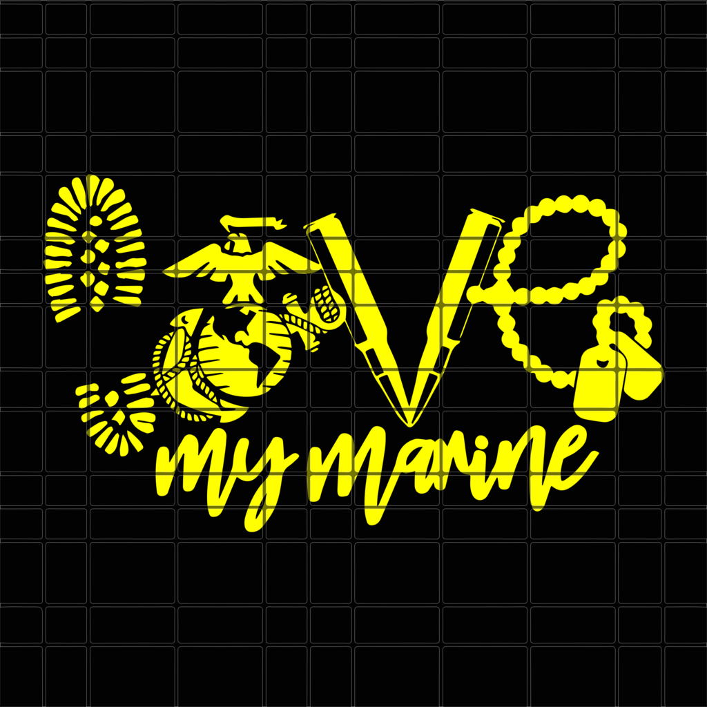 Download Love my marine SVG, DXF, EPS, PNG Instant Download | My ...