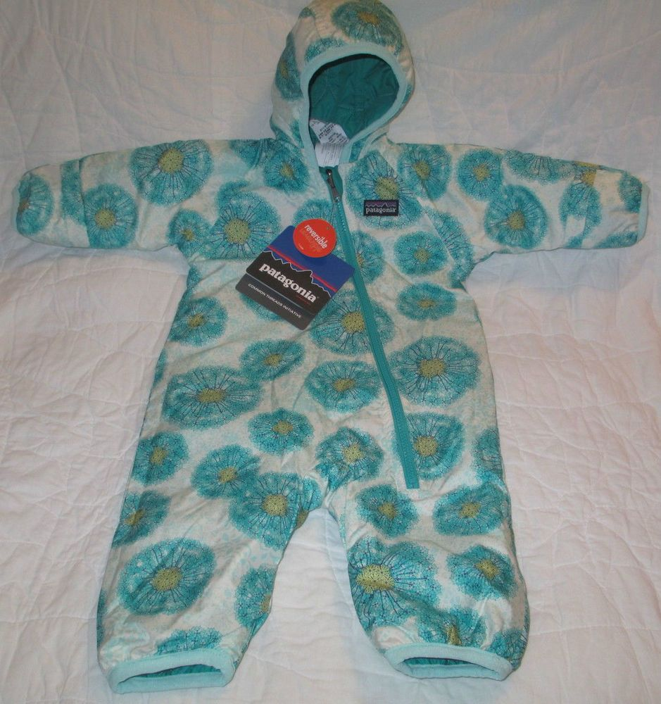 New Patagonia Puff Ball Bunting Reversible Snowsuit
