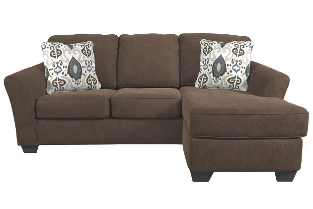 terrarita sofa chaise by ashley homestore brown motif ikat canape chaise coussins de