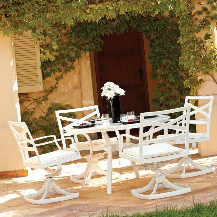 the gloster roma outdoor furniture collection features a simple yet