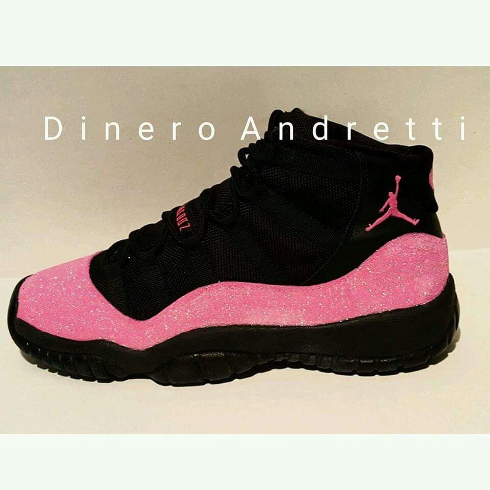 ea1f017e40 Pink   Black Jordans
